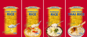 CAROLINA rice pack front 4 types