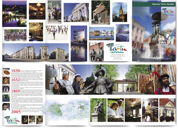 Discover Tartu spreads of promotional brochure