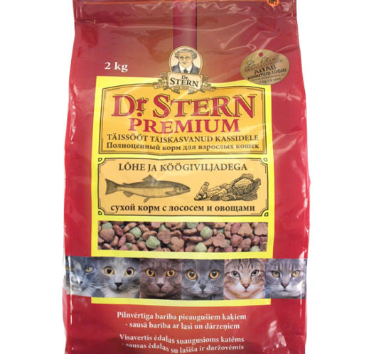 Dr STERN brand cat food bag pack design