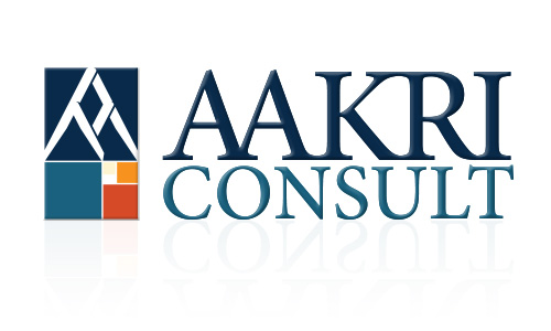 AAKRI-CONSULT logo design on white