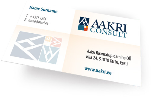 AAKRI business card design blank