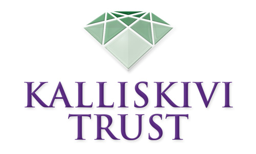 Kalliskivi-Trust logo design on white