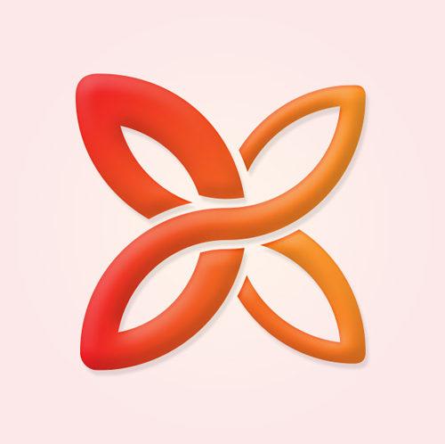 Linking Museum logo design symbol