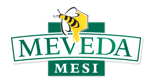 MEVEDA mesi logo design on white