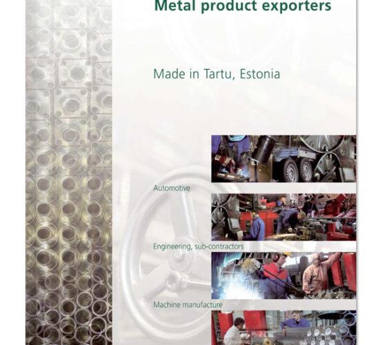Tartu Region Metalproduct exporters cover design
