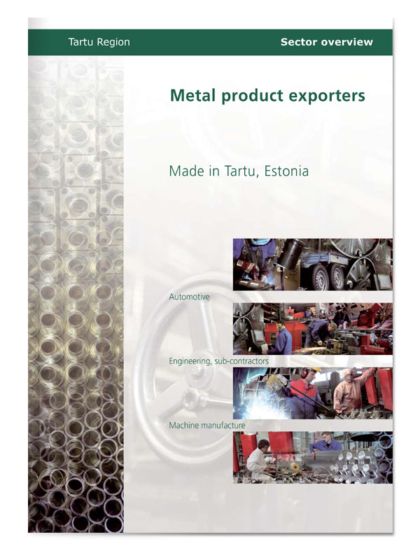 Tartu Region Metalproduct exporters cover design