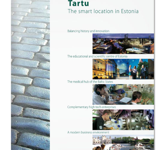 Tartu smart location brochure cover design