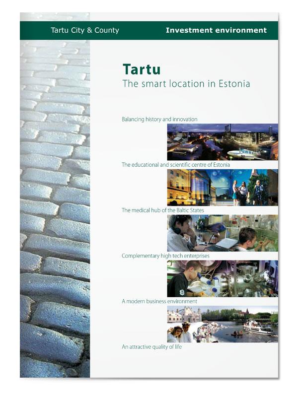 Tartu smart location brochure cover design