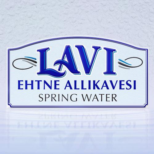 LAVI VESI spring water brandmark design
