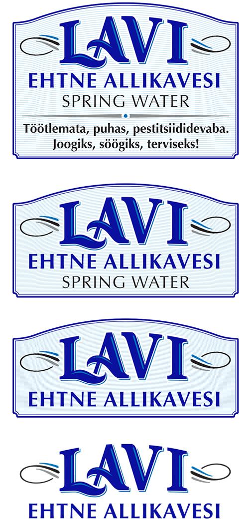 LAVI spring water pouch-brandmarks